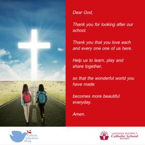 Catholic Education Week prayer