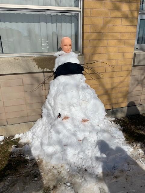 Loftus snow mannequin