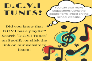 DCVI Tunes! Did you know that DCVI has a playlist? Search