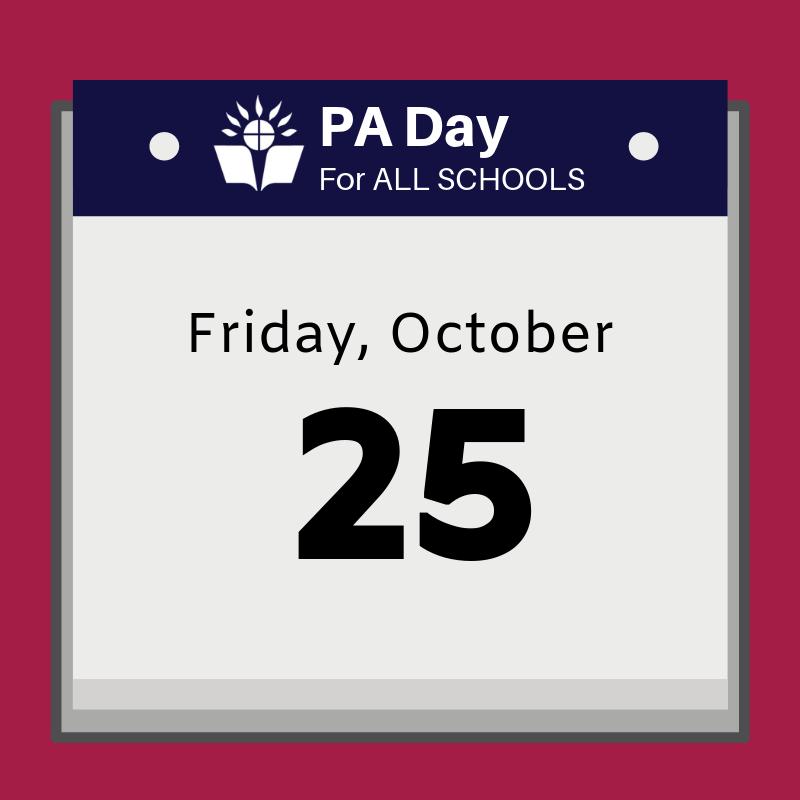 calendar that says Friday, October 25