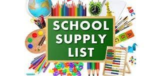 School Supply List 2020-2021 Featured Photo