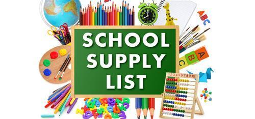 School Supply List for 2021-2022 Featured Photo