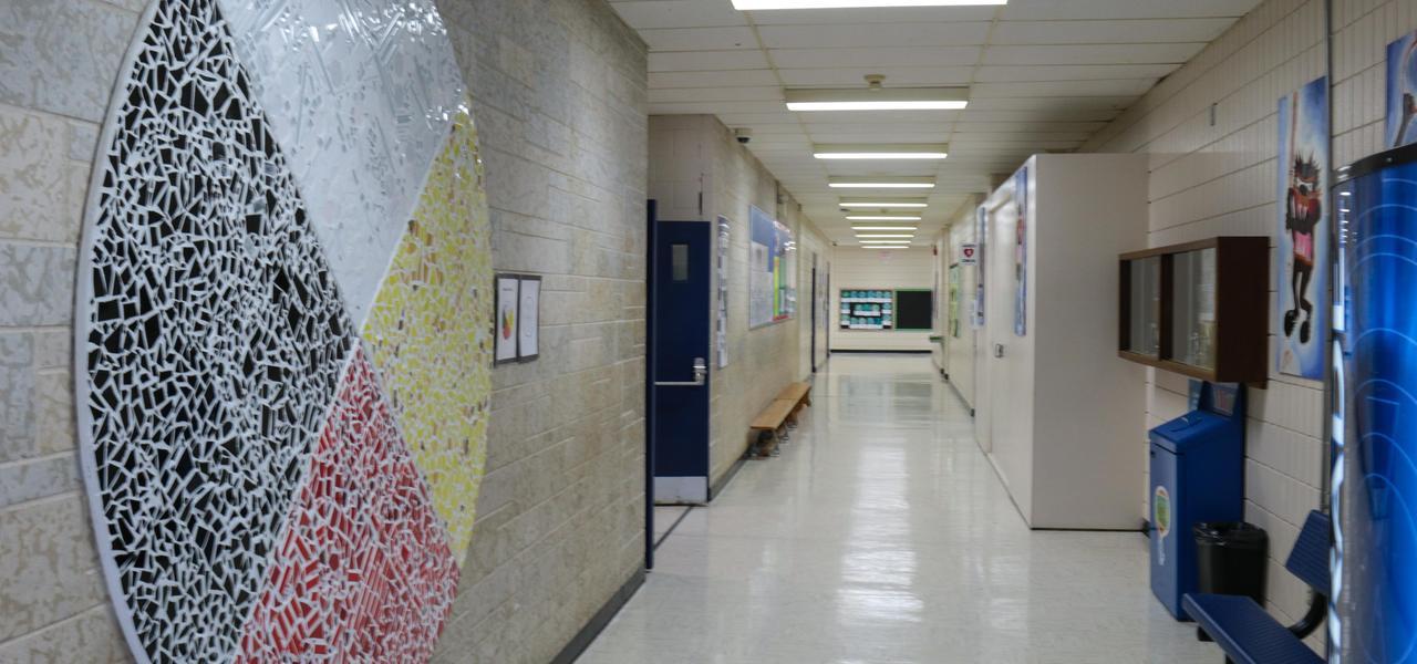 Gymnasium hallway.