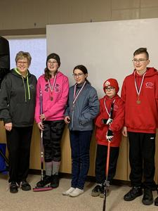 JR Mixed Curling team earns BRONZE- STM is PROUD!! Featured Photo