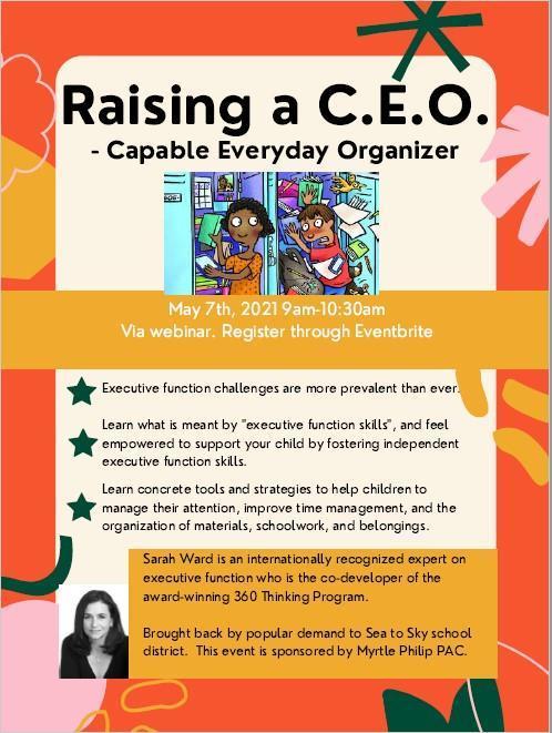 Raising a CEO poster