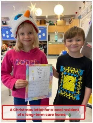 students share a letter they wrote