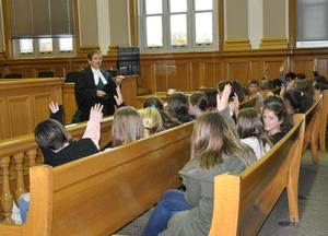 Students in court room