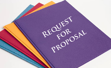 Duo tangs with the heading, Request for Proposal
