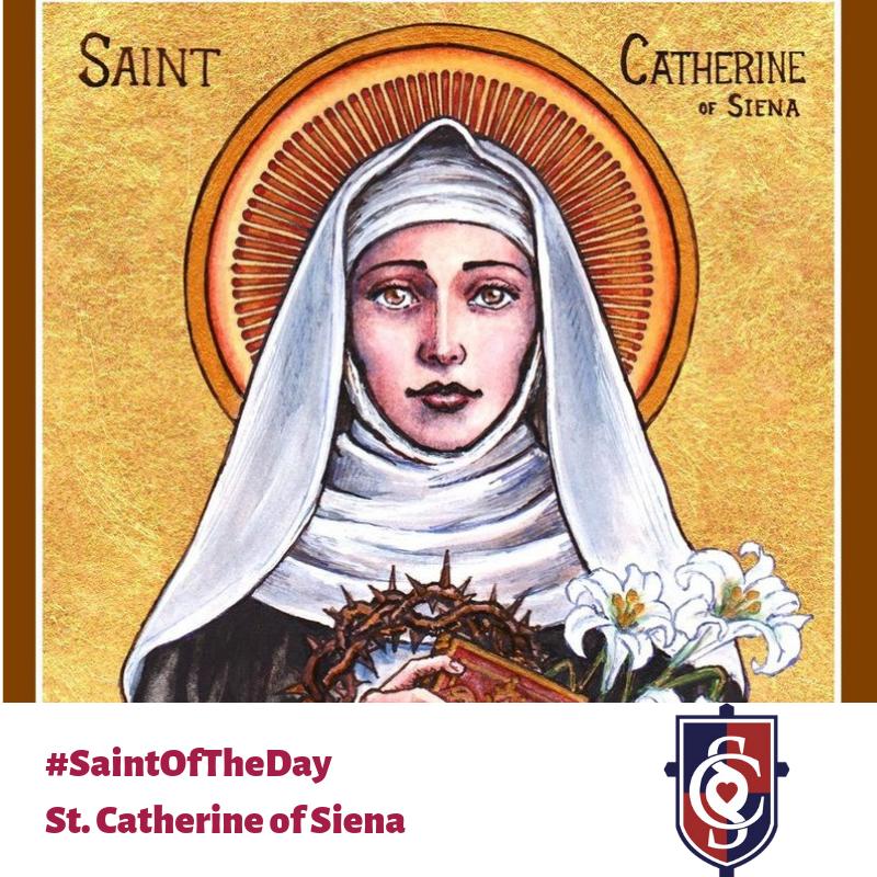Today's #SaintofTheDay is St. Catherine of Siena!