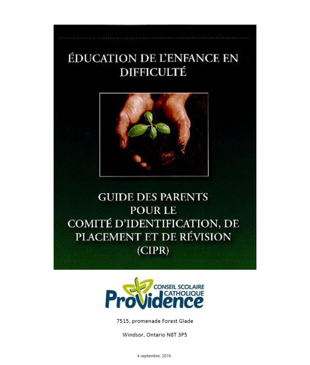 Plan EED - Guide des parents