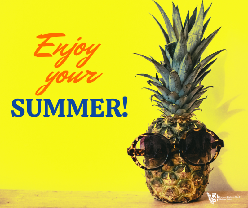 SD54 schools are now closed for summer break! Featured Photo
