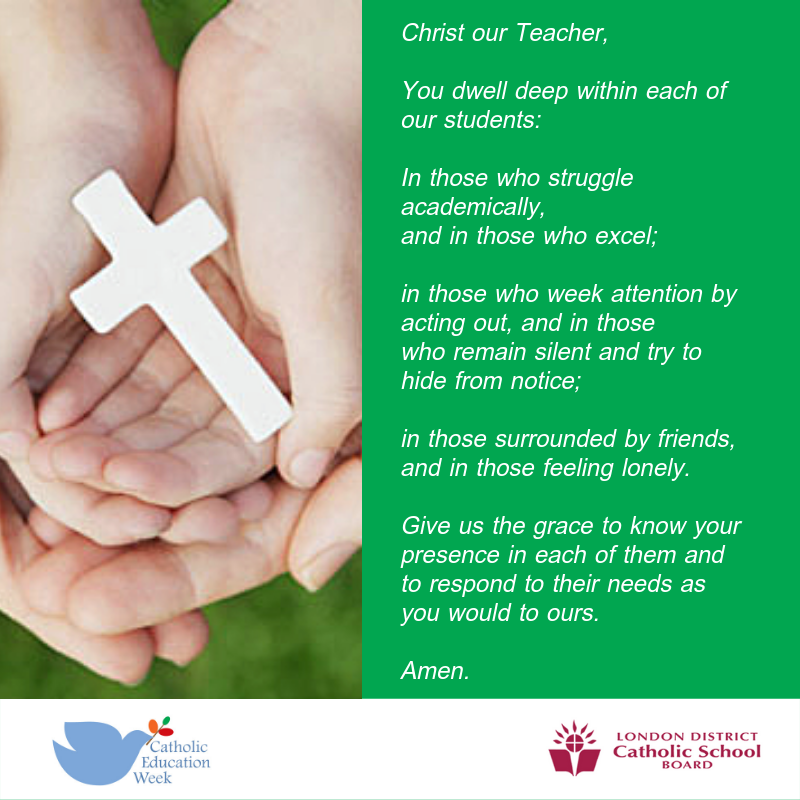 Catholic Education Week prayer 3