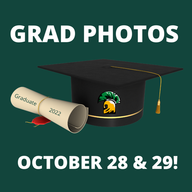GRAD PHOTOS - OCTOBER 28 & 29! Featured Photo