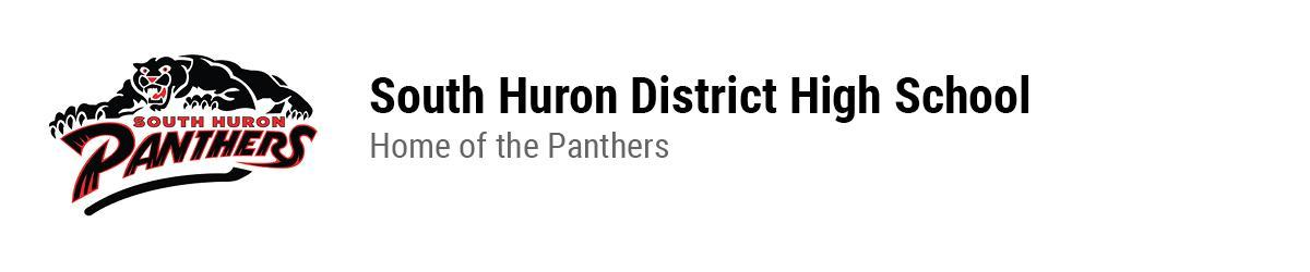 South Huron panthers logo. South Huron District High School. Home of the Panthers