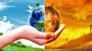 Earth in hand global warming image