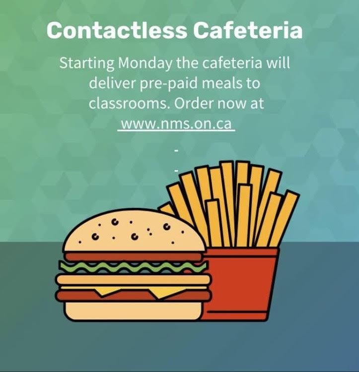 Contactless Cafeteria Meal orders