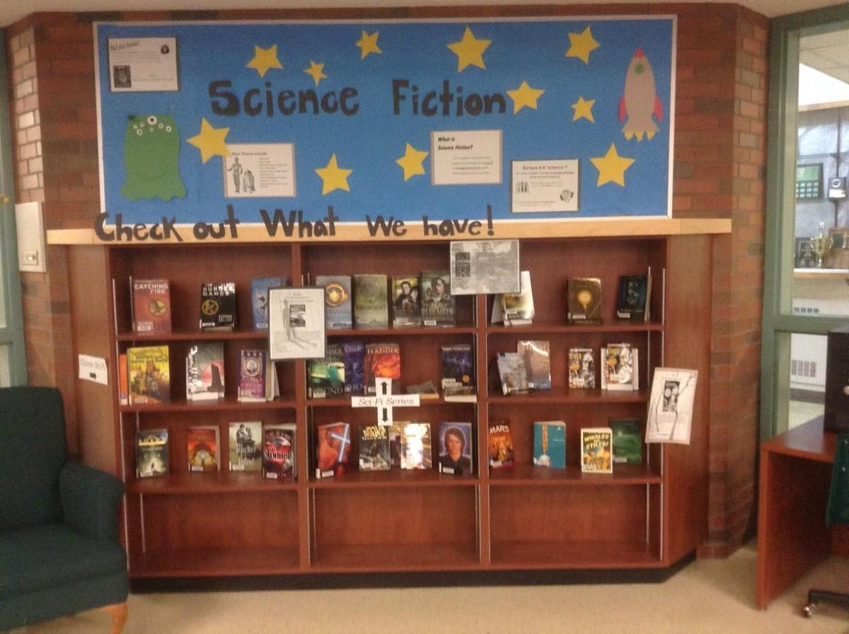 science fiction book shelf