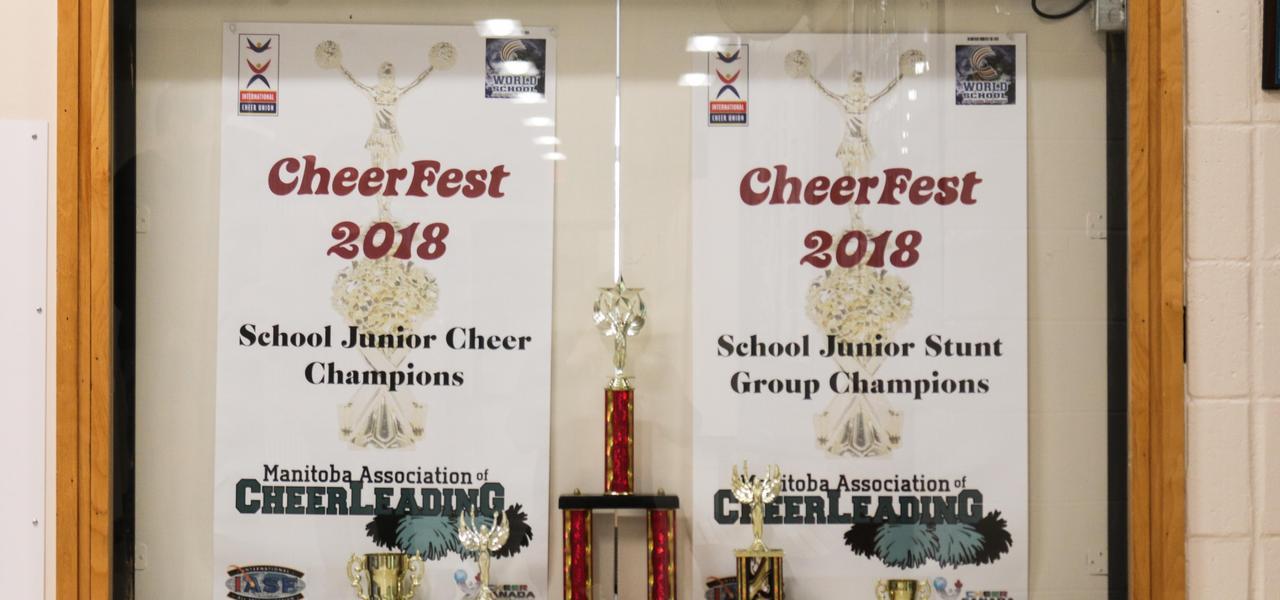 Cheerleading awards from 2018.