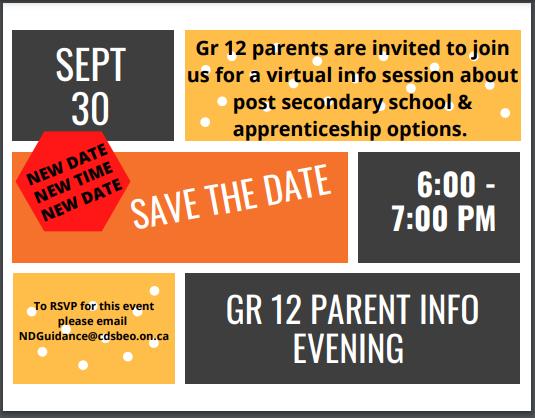 Gr 12 Virtual Parent Info Evening Featured Photo