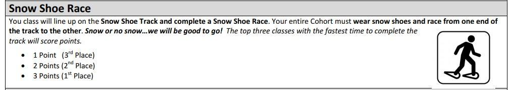 mm snow shoe race