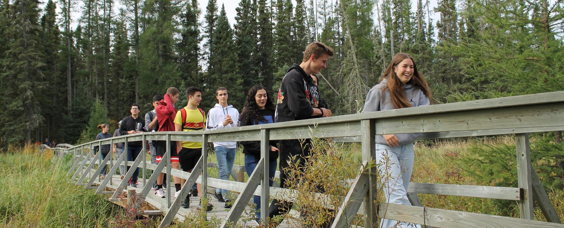 hiking at boreal trail