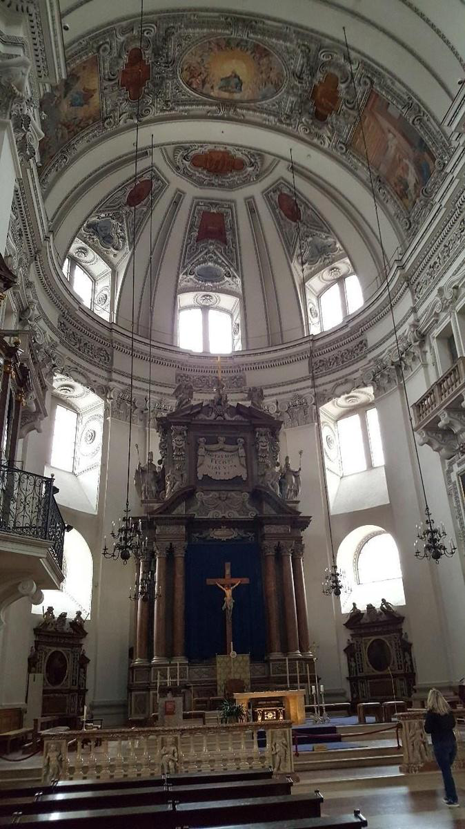 Salzburg Cathedral where Mozart was baptized