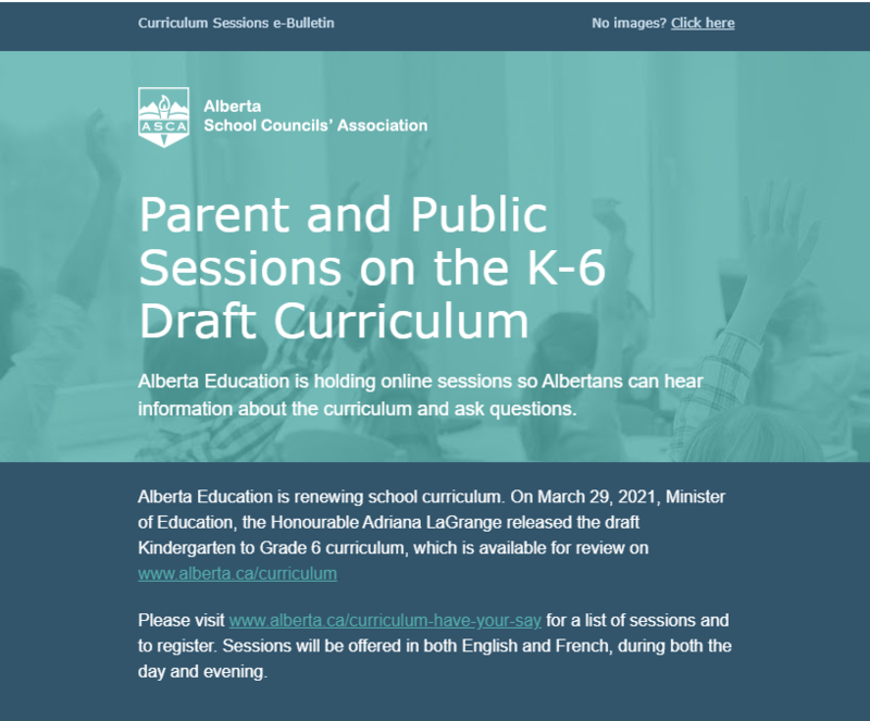 Parent and Public Sessions on the K-6 Draft Curriculum Featured Photo