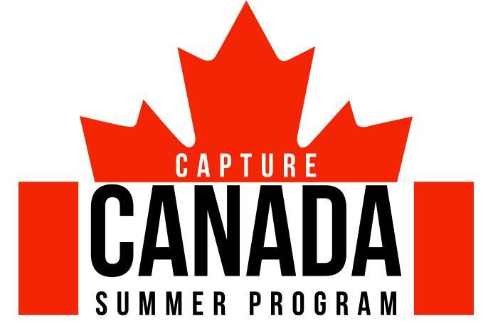 Capture Canada Summer Program with canadian flag