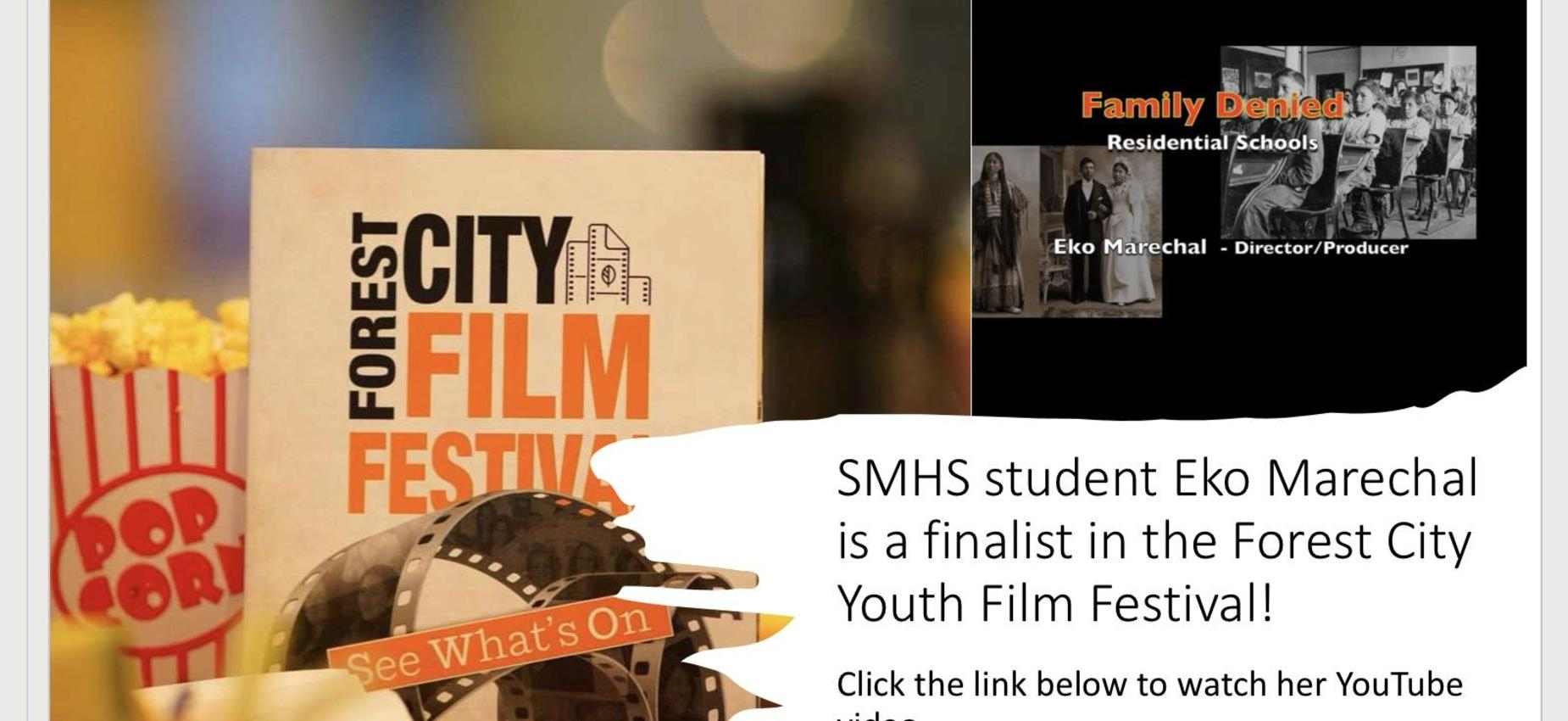 SMHS Student is a finalist at Forest City Film Festival