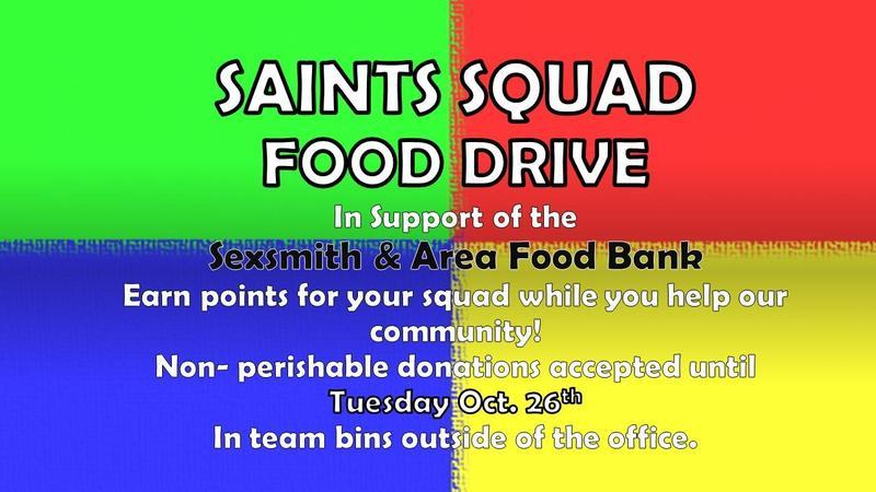 Saints Squad Food Drive Featured Photo