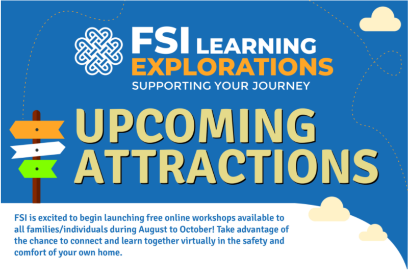Family Support Institute-Free Upcoming Learning Exploration Workshops Featured Photo