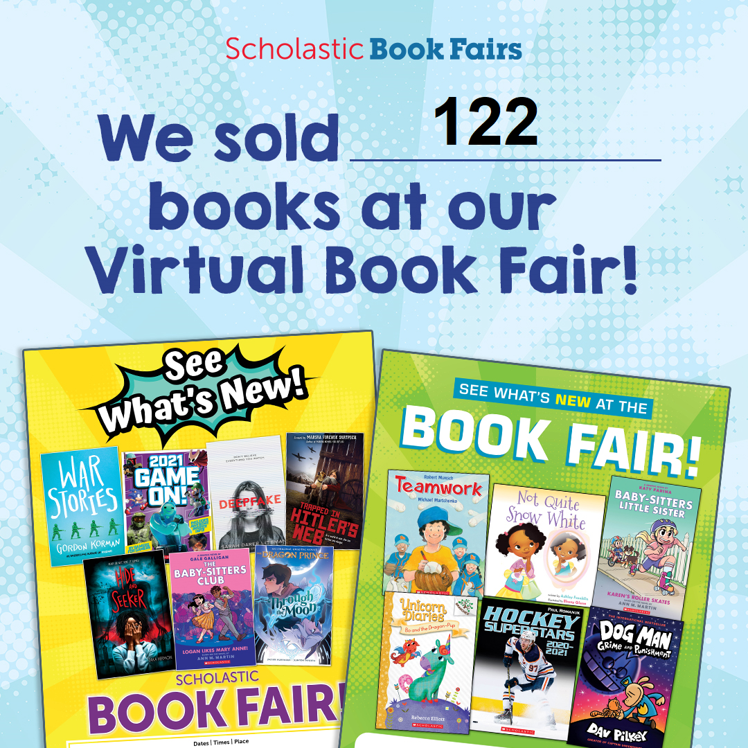 we sold 122 books at our online Scholastic book fair