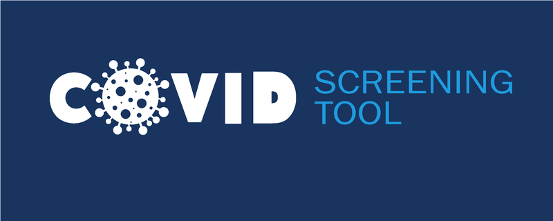 Covid-19 Screening Tool Banner