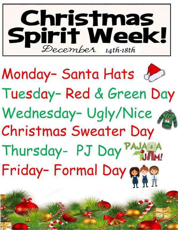 Christmas Spirit Week at STM December 14-18th Featured Photo