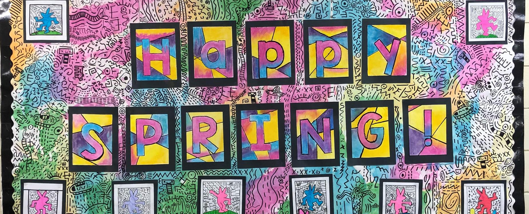 Happy Spring Bulletin Board