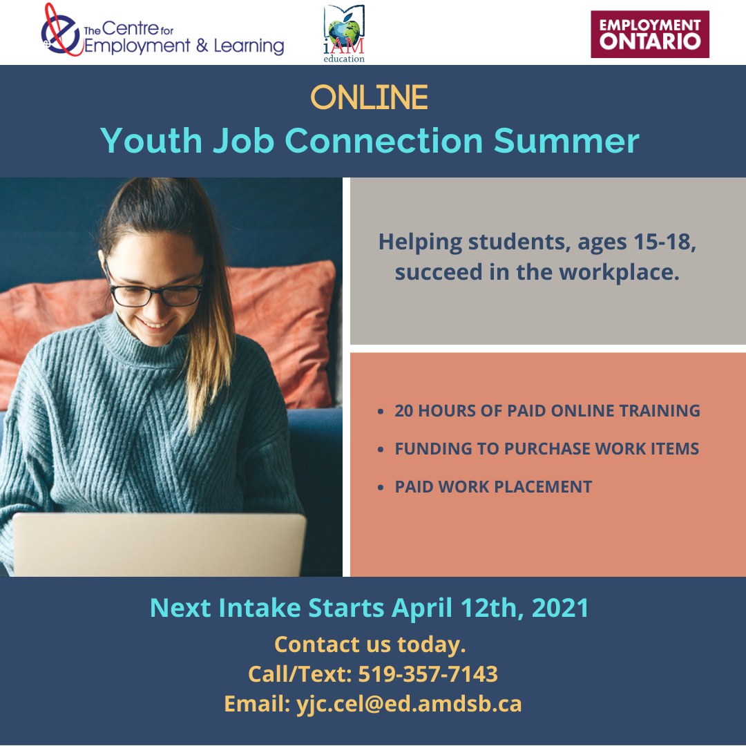 Youth Job Connection Summer Poster