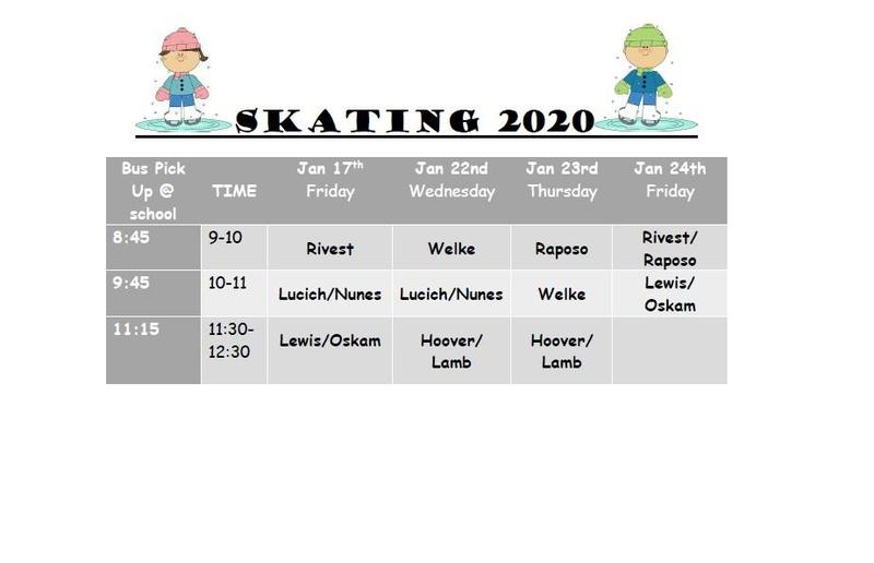 Updated Skating Schedule! Featured Photo