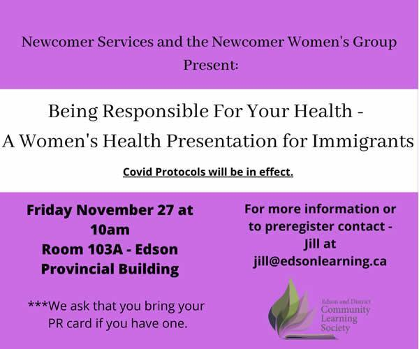 Being Responsible For Your Health - A Women's Health Presentation for Immigrants Featured Photo
