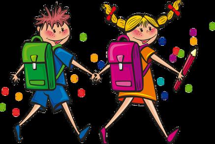 kids w backpacks