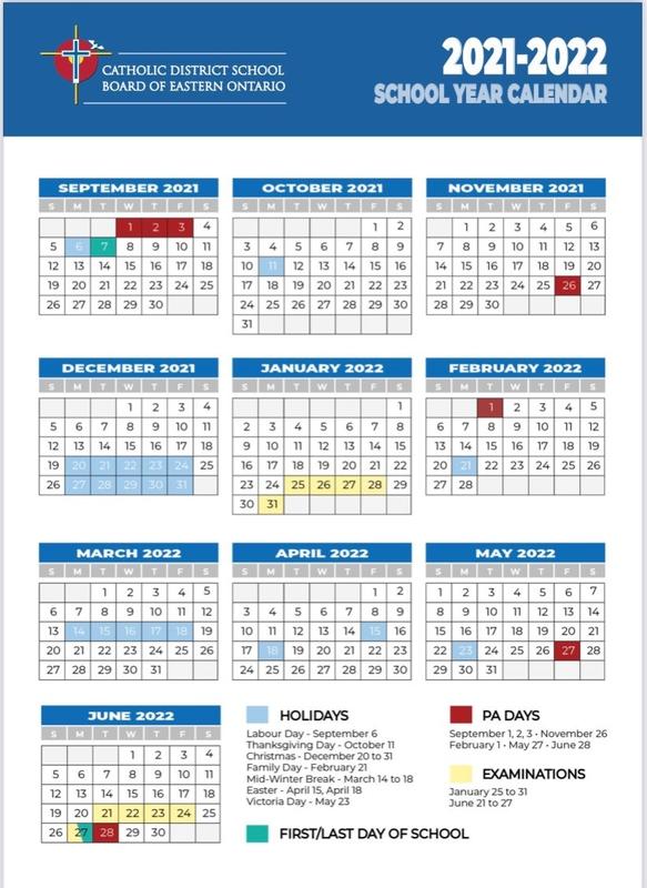 School Calendar 2021-2022 Featured Photo