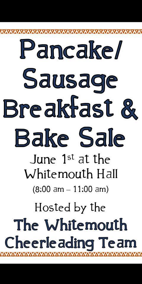 Breakfast and Bake Sale sign