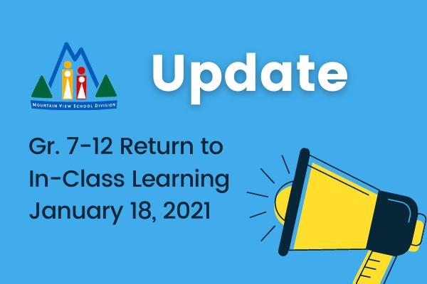 MVSD Gr. 7-12 Return to In-Class Learning