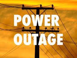Power outage image with hydro lines