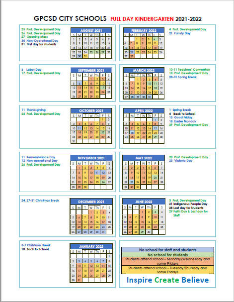 2021-2022 Kindergarten Calendar Featured Photo