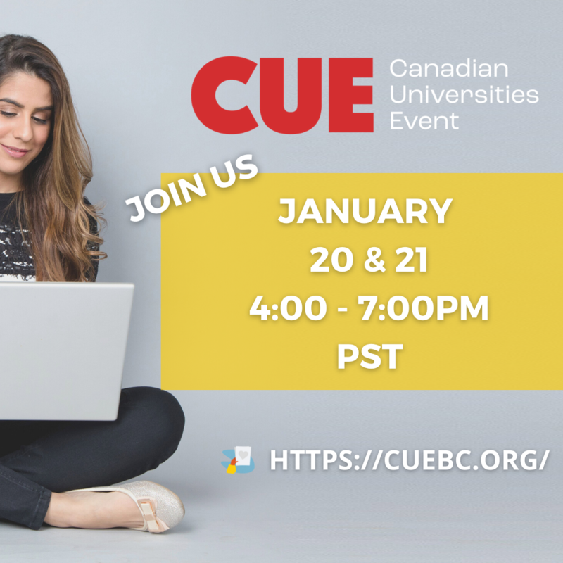 Canadian  Universities Event January 20th and 21st 4:00-7:00 Featured Photo
