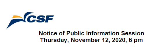 Notice of Public Information Session-November 12, 2020 at 6pm Featured Photo