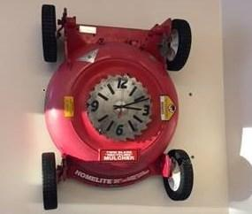 lawn mower clock