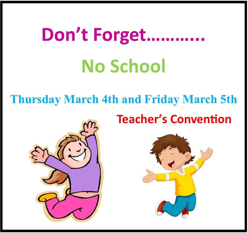 No School March 4th & 5th Featured Photo
