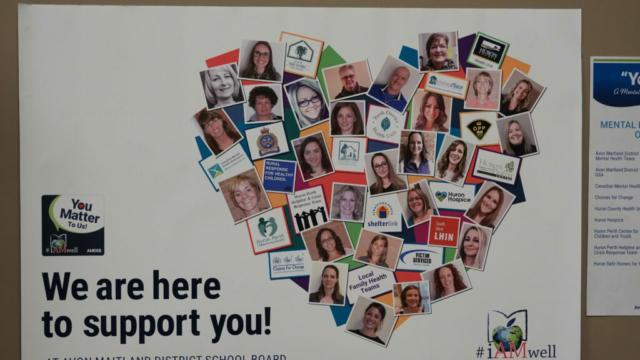 you matter heart with list of community organizations that support AMDSB students