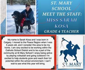 St. Mary (Beaverlodge): Sarah Kosa Featured Photo